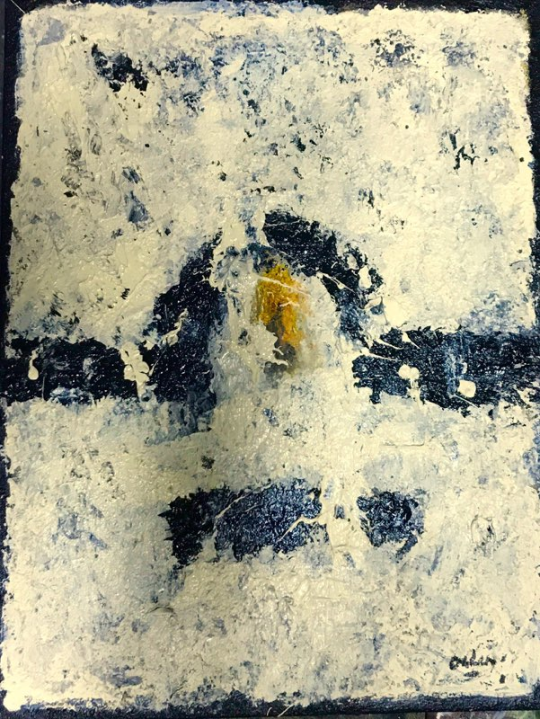 D18-10; maart 2018'; acryl op doek; 40 x 30 cm.