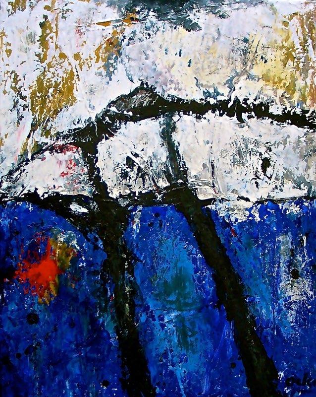 D13-18 VI/2013,  Acryl op doek 50 x 40 cm. Expo De Pook 2014; Galerie 10 bij 10, 2016